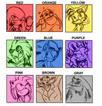 Sonic Riders characters color MEME by SanyokVAMPIRE