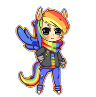 Request #1 Rainbow Dash by MiniWoopWoop
