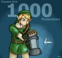 1000 Pageviews by YamiRedPen