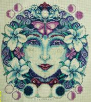 Moon Goddess Cross-Stitch by HaleyGeorge
