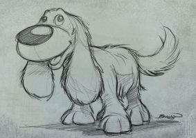 Pixar's Up inspired dog by craig-bruyn