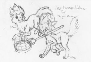 Ape Escape Wolves by SinjaAussiaAngels