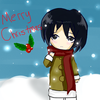 Merry Chirstmas From Mikasa by CuppyCakiee