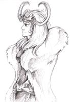 Lovely Lady Loki by CatusSnake