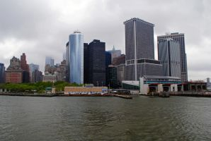 View of NY, Staten Island ferry by LucieG-Stock