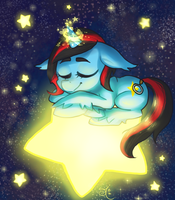 Sleeping in Space by ChibiWendy