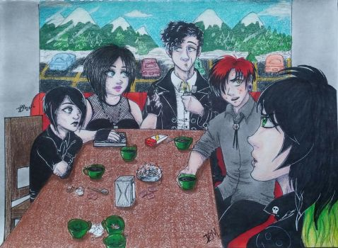 Goth Kids And Mike by Violet-Daze