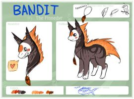 Bandit the Finnedyr Ref Sheet by TakaNou
