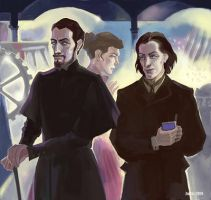 A hard day of Vetinari. Morning. William de Worde by ZarKir