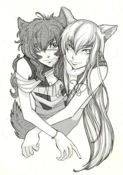 youji and natsuo by meenist