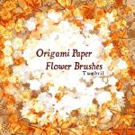 Origami Paper Flower Brushes by Tumbril