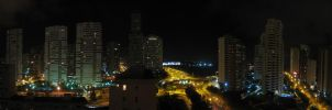 Benidorm at night - Panorama by Dragon181