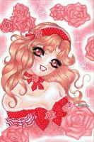 ACEO 4 Red Girl by AlexielLeNeko