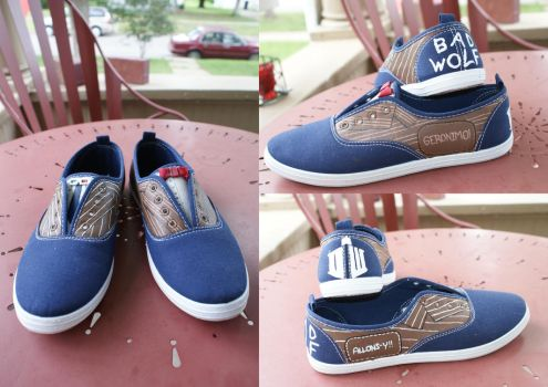 Doctor Who Shoes by Kilarei
