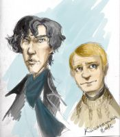 Sherlock and John by kissyushka
