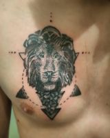Lion dotwork tattoo by silvestar97