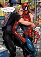 Hawkeye and Spidey by bhebbo