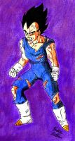 Battle Damaged Vegeta by Jaylastar