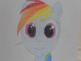 2nd Attempt at Drawing Rainbow Dash by Technicallyderped
