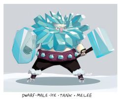 DA - ice dwarf by shoze