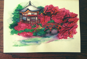 Japanese Garden by AnanyaArts