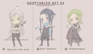Adoptables Set 04 - CLOSED by arhiee