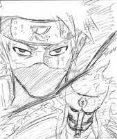 Kakashi Double Sharingan (Speed Sketch) by grifox