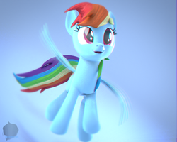 [Blender] Rainbow Dash by Moonight118