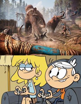Lori and Lincoln Playing Far Cry Primal by EddyBite87