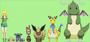 My Pokemon - Height Chart by CatTreats