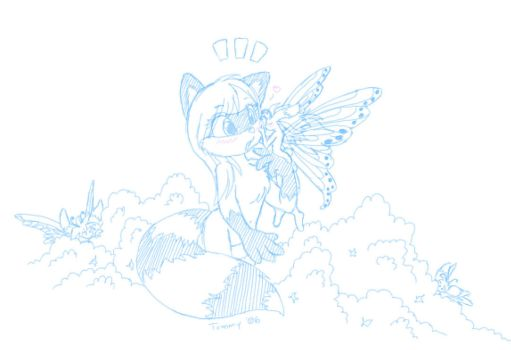 Raccoon and Fairy by tommychan