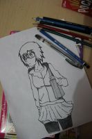 My FIRST Megane Drawing.. (Traditional) by Zer0-Slayer