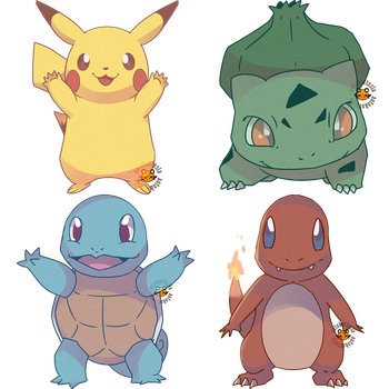 Kanto Starters Commission by AutobotTesla