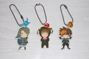 Kingdom hearts zelda keychains by knil-maloon