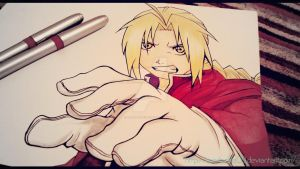 As I reach- Edward Elric- Full Metal Alchemist by Randazzle100