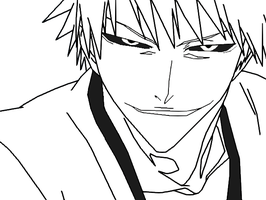 Hollow Ichigo Lineart by uchiha-itachi111