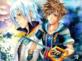 Kingdom Hearts II - Sora and Riku by Laovaan