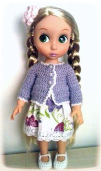 Custom outfit for Animator doll Rapunzel by annie-88