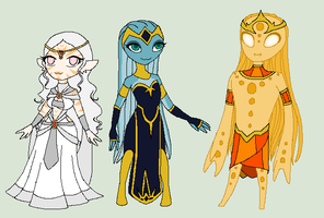 Alien princesses..And an Amoeis Prince by ThexStarxDestroyer