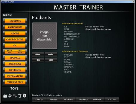 Master Trainer Main interface by Gabmix
