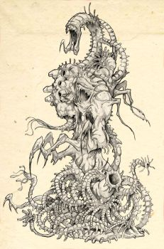 The Thing - concept drawings 3 by Kaduflyer