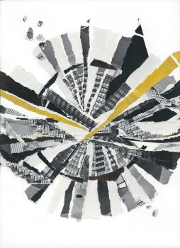 In Time - Original Paper Collage by mercurycode