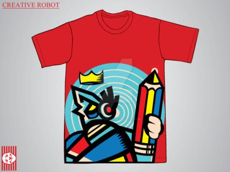Creative Robot T-Shirt Design by SeedofSmiley
