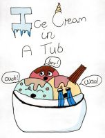 Kawaii Drawing Ice Cream In A Tub !!! by megatiger42