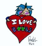 I Love Boobs by Rebh