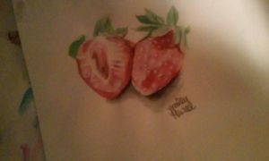 strawberries by emily13creations
