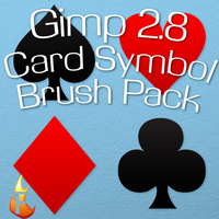 Gimp Card Symbols Brush Pack by Flame2057