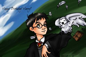 Harry and Hedwig by prismageek