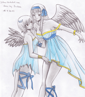Angel and Yukino (the Angel sisters?) by Juviaaa