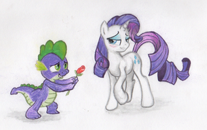 Rarity and Spike by BenRusk